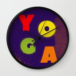 Yoga Spray Wall Clock