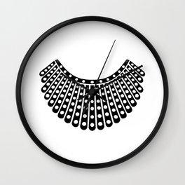 Ruth Bader Ginsburg Dissent Collar Wall Clock