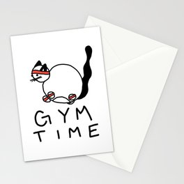 Gym Time Stationery Cards