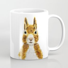 cute little squirrel watercolor Coffee Mug