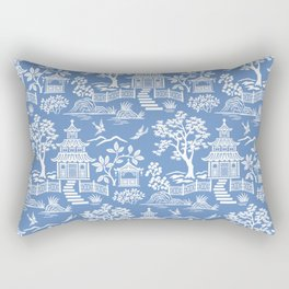 Chinoiserie Pagoda Rectangular Pillow