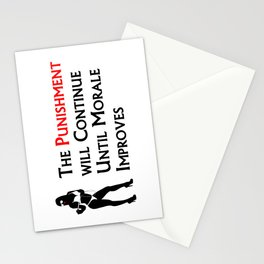 Punishment Will Continue... Lght Bckgrnd Stationery Cards