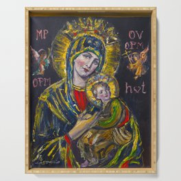 Our Lady of Perpetual Help Serving Tray