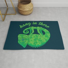 Hang In There Magical Chameleon Rug