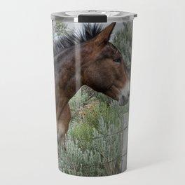 Mule in Wyoming Travel Mug