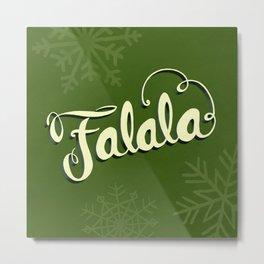 Falala - Green Metal Print