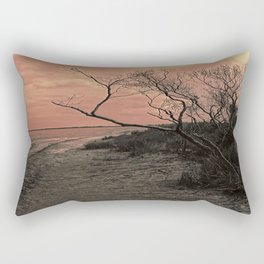 Diffused Beach Tree Rectangular Pillow