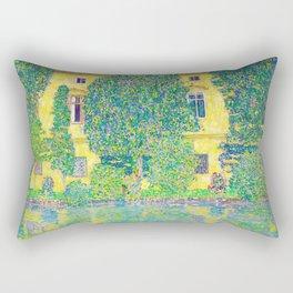 Gustav Klimt - Schloss Kammer Am Attersee IIi - Digital Remastered Edition Rectangular Pillow