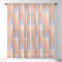 Gisela Color Block Pattern I Sheer Curtain