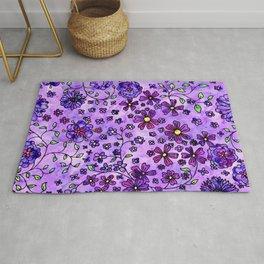 Purple Small Flowers Rug