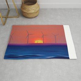 Windmills to the Sun Rug