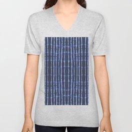 Blue bamboo Unisex V-Neck