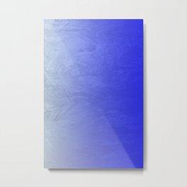 Blue Ice Glow Metal Print