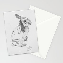 Rabbit pencil drawing Stationery Cards