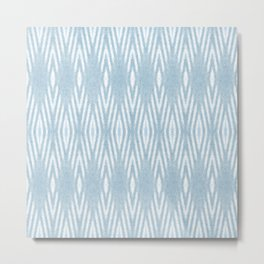 Nappy Faux Velvet Liquid Diamonds in Blue Reverse Tiled Metal Print