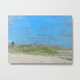 Sea oats on the dune Metal Print