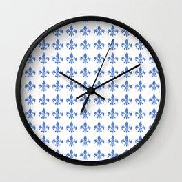 French Blue fleur di li Wall Clock