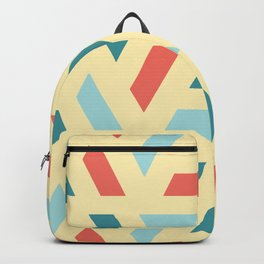 Modern Coloured Pattern Backpack