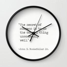 John D. Rockefeller Jr. quote Wall Clock