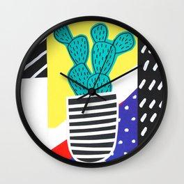 Funky Fun Cactus Art Wall Clock