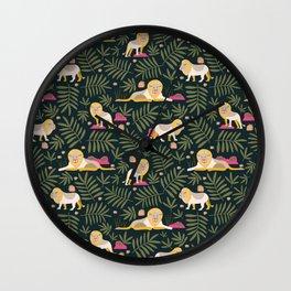 Gentle Lions Jungle Green Wall Clock