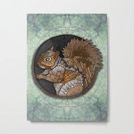 Woodland Squirrel Metal Print