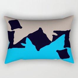 Ocean Geometry Rectangular Pillow