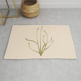 Stems Modern Leaf Art Digital Graphic Print Rug