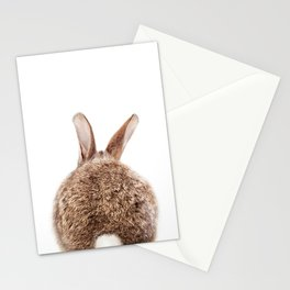 Bunny Tail, Brown Bunny Rabbit, Baby Animals Art Print By Synplus Stationery Cards