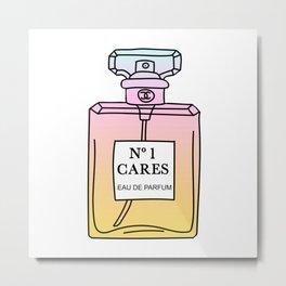 no1 cares Metal Print