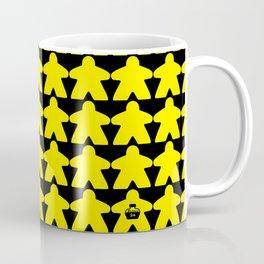 Yellow Meeples by Blackburn Ink Coffee Mug