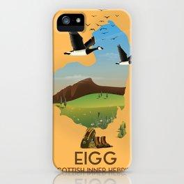 Eigg, scotland map iPhone Case
