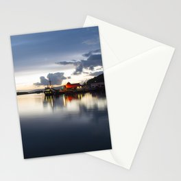 Twylight over Oban Harbour Stationery Cards