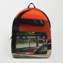 Hugger Orange Challenger SRT Hellcat color photograph / photography / Greg Gjerdingen Backpack