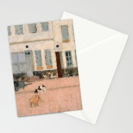 Pierre Bonnard - Two Dogs In A Deserted Street - Digital Remastered Edition Stationery Cards