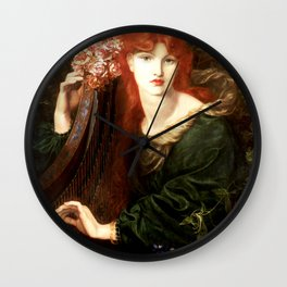 "Dante Gabriel Rossetti ""La Ghirlandata"" Wall Clock"