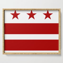 Washington DC District Of Columbia Flag Serving Tray