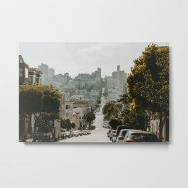 Uphill Street in San Francisco Metal Print