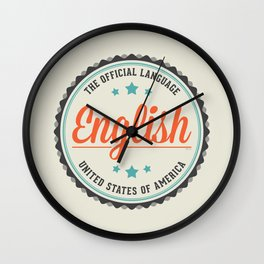 USA Official Language Wall Clock