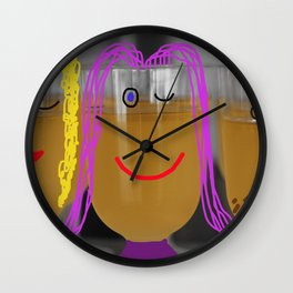 Oh what a glass Wall Clock