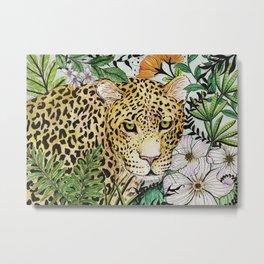 Jaguar in the jungle Metal Print