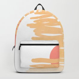 Let the Sunshine rise #lineart Backpack