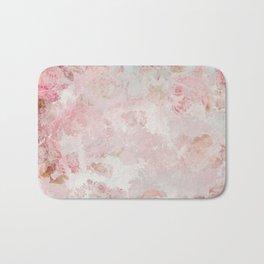 Vintage Floral Rose Roses painterly pattern in pink Badematte