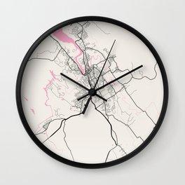 Launceston - Australia Neapolitan City Map Wall Clock