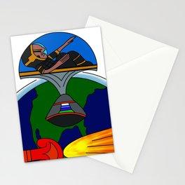 Mayan Astronauts Stationery Cards