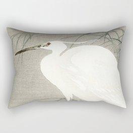 Ohara Koson - Little egret Rectangular Pillow