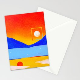 To Put a Frame Around the Moon Stationery Cards