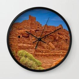 Wupatki Pueblo Ruins at the Wupatki National Monument in Arizona Wall Clock