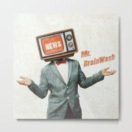 Mr. BrainWash Metal Print