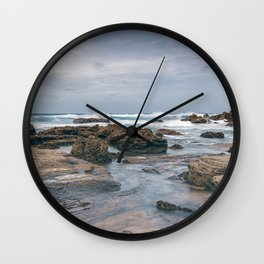 A Day At The Beach Seascape Wall Clock